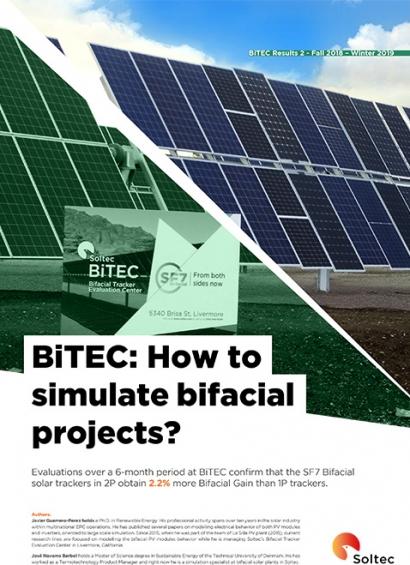 Soltec lanza su segundo White Paper sobre la producción de paneles bifaciales con los datos extraídos en BiTEC