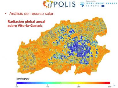 Vitoria podría cubrir el 75% de su demanda eléctrica con solar FV