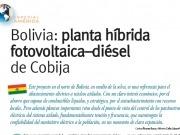 Planta híbrida fotovoltaica–diésel de Cobija