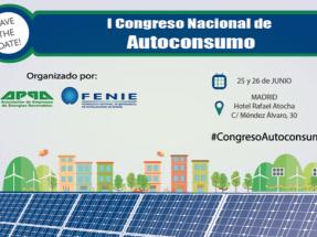 APPA y FENIE organizan el I Congreso Nacional de Autoconsumo