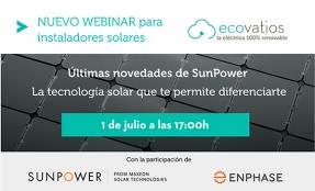 ecovatios te invita a un webinar el 1 de julio sobre las últimas novedades y perspectivas en la tecnología solar