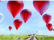 99 globos rojos para captar la energía del sol