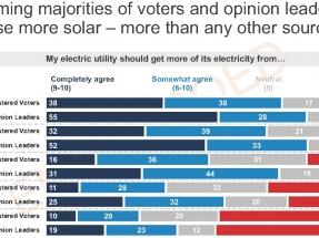Más del 75 % de los votantes quieren que las empresas eléctricas y el Gobierno fomenten la fotovoltaica