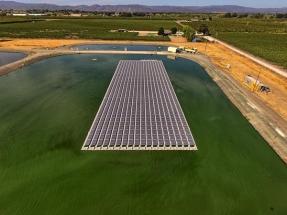 California: En operaciones el primer sistema fotovoltaico flotante público