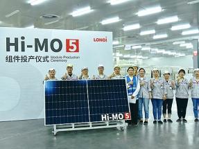 LONGi firma el primer pedido de su nuevo módulo Hi-MO 5, que acaba de entrar en fase de producción a gran escala