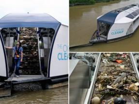 Interceptor, el barco solar que limpia los ríos de plásticos antes de que lleguen al mar