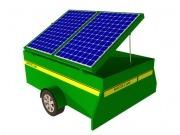 Un remolque solar móvil para el campo