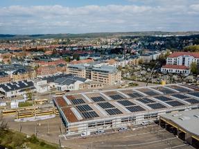Solarwatt instala en los techos de la estación del tranvía de Dresde 1.000 módulos fotovoltaicos