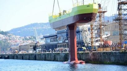 Magallanes bota en Vigo su prototipo de aprovechamiento de la energía de las mareas
