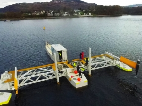 Escocia prueba otro dispositivo de aprovechamiento de las energías marinas