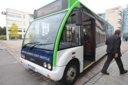 Un autobús eléctrico en Heathrow
