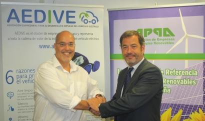 APPA y Aedivefirman un acuerdo para impulsar elvehículo eléctrico sostenible
