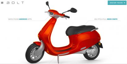 Bolt recauda 3 M€ mediante crowdfunding para comercializar on line su scooter eléctrica