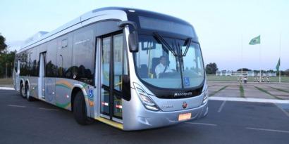 Presentan el primer ómnibus a biogás de fabricación nacional