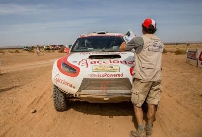 Acciona debuta con un coche 100% eléctrico en el Rallye de Marruecos