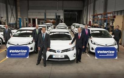 Valoriza renueva su flota con 17 híbridos Toyota