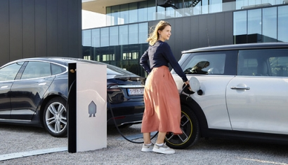 Qksol distribuye la estación de carga de vehículos eléctricos de Smappee