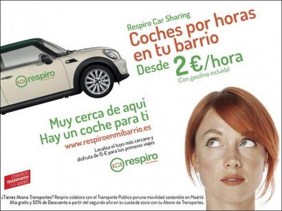 El coche compartido, en Metro de Madrid