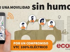 Ecodes lanza una campaña para que VTCs y taxis sean 100% eléctricos en cinco años
