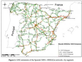 El corredor del Mediterráneo, responsable del 17% de las emisiones GEI de las carreteras españolas