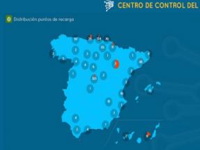 Red Eléctrica publica un mapa de puntos de recarga del vehículo eléctrico en España