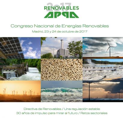 APPA convoca el I Congreso Nacional de Energías Renovables