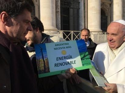 El Papa quiere más renovables