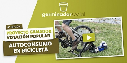 El proyecto Autoconsumo en bicicleta, de Energia Gara Nafarroa, gana el premio de votación popular del Germinador Social