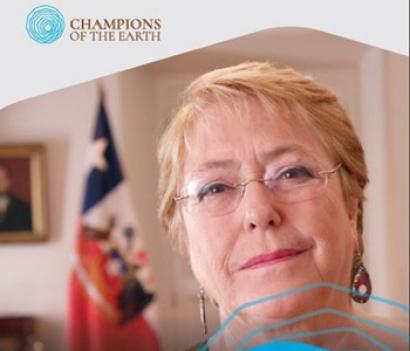 CHILE: La 3ª Asamblea de la ONU para el Medio Ambiente concede a la presidente Michelle Bachelet el premio Campeones de la Tierra