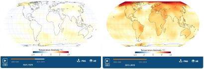 NASA: Una animación muestra cómo se ha ido calentando el mundo desde 1880