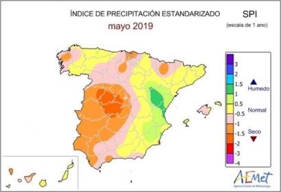 2019: el tercer año hidrológico más seco del siglo en España