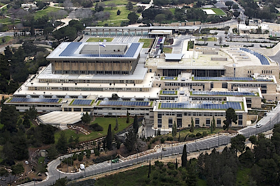 Knesset. Cubierta fotovoltaica