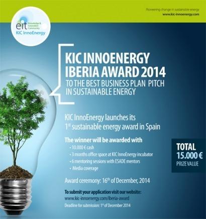 KIC InnoEnergy lanza su 1º Premio de Energía Sostenible