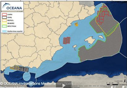 La búsqueda de petróleo y gas amenaza a la mitad del mediterráneo español