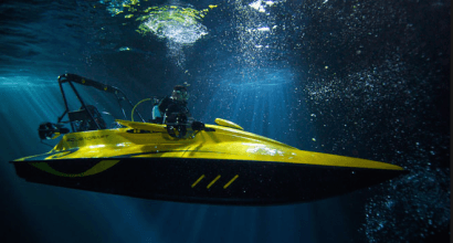 Una lancha sumergible para ayudar a mantener parques eólicos marítimos