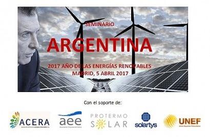 ARGENTINA: Seminario en Madrid: 2017, el Año de las Renovables