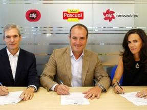 EDP y Calidad Pascual cierran el primer acuerdo de compraventa de electricidad PPA firmado en España