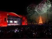 El mayor árbol de Navidad flotante y el más eficiente