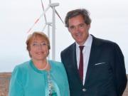La presidente Bachelet inaugura el parque eólico Punta Palmeras
