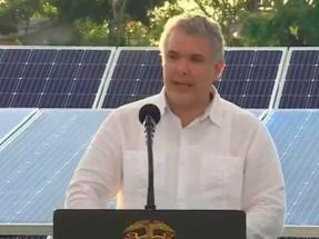 """El presidente Duque anuncia una subasta de energías renovables para 2021 """"por encima de los 5.000 MW"""""""
