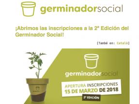 Abierta la participación en la 2ª edición del Germinador Social