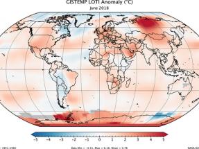 El julio más caliente del Hemisferio Norte en 260 años