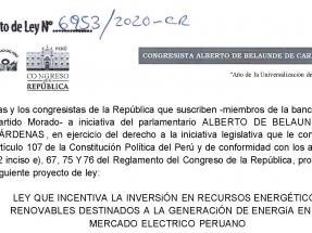 Diputados oficialistas presentan un proyecto de ley para incentivar las energías renovables