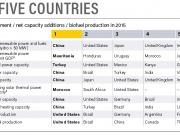 2º y 3º en inversión renovable mundial respecto de su PBI