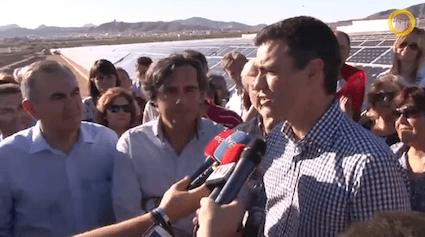 Pedro Sánchez se compromete a restituir la retribución de la fotovoltaica