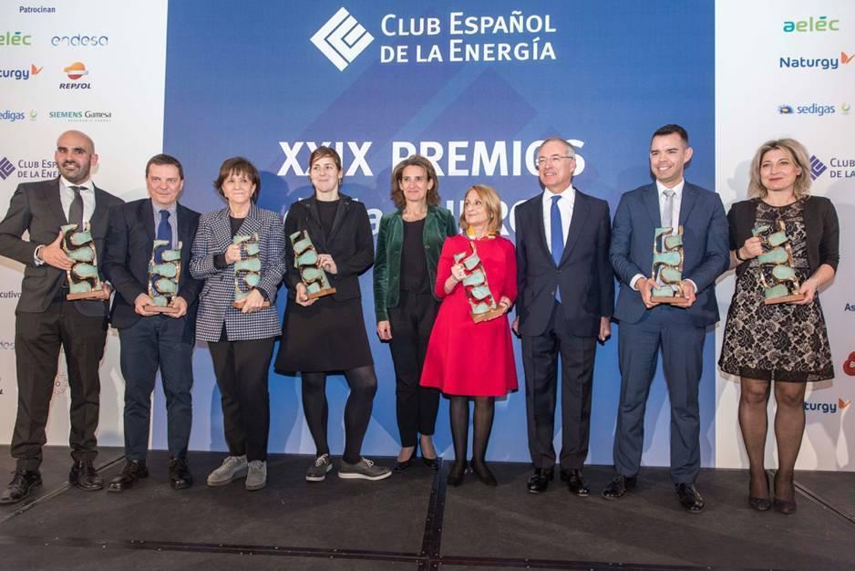 Teresa Ribera reivindica sus ocho meses de trabajo en la entrega de los premios Enerclub