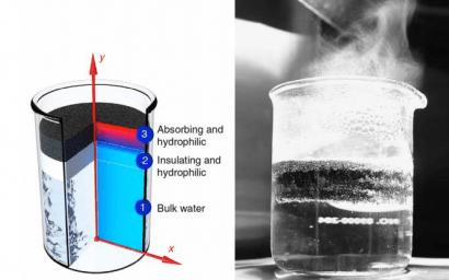 Desarrollan una estructura que genera vapor directamente con la radiación solar