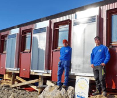 Aire solar en la Antártida