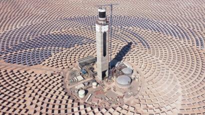 La planta termosolar Cerro Dominador completa la provisión de sales fundidas