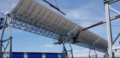 El puerto de Amberes instala una planta industrial de energía solar de concentración